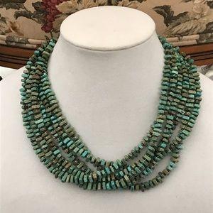 Silpalda Turquoise 6 Strand Necklace